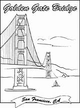 Bridge Gate Coloring Golden Crayola Francisco London Sheets Tower Dibujos Puente Puentes Printable Bridges Monumentos Landmarks Paris Colorear Drawing Dibujo sketch template