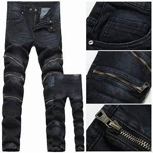 Online Cheap 2016 Zip Balmain Men Jeans Menu0026#39;S Jeans Fashion High Quality Mens Jeans Pants Famous ...