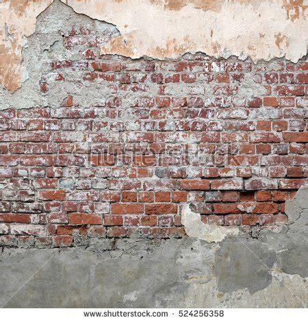 grungy brickwall broken stucco frame texture stock photo