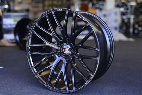 str wheels  gloss black rims str