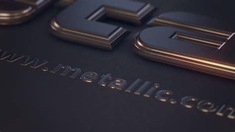 metallic text  martinlenart videohive