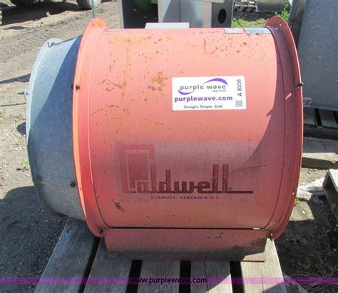 12 grain bin fan caldwell f28 1212 bin fan no reserve auction on