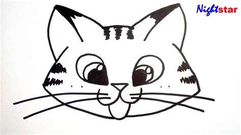 draw  cute kitten face drawing art  kids cat