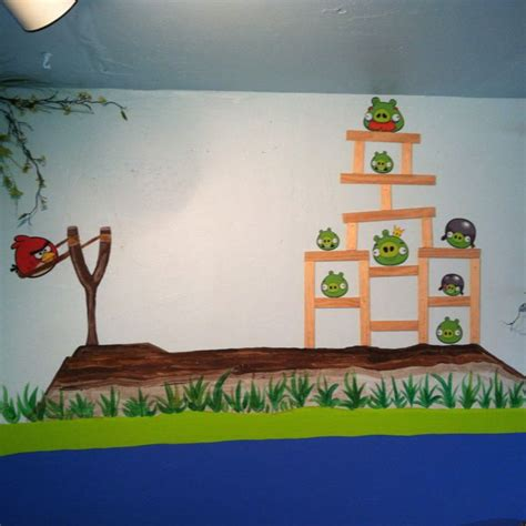 Angry Birds Bedroom Decor by Angry Birds Mural Bedroom Home Decor