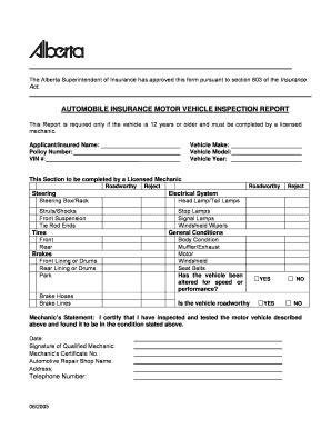 alberta insurance inspection form fill  printable