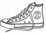 Converse Dibujo Shoe Balenciaga Fila Zapatillas Guardado Desde Uploaded Colorear Clip Simple Dibujos sketch template