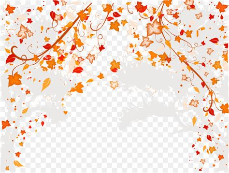 wedding invitation picture frame ornament autumn leaves