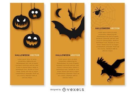 Choose from over a million free vectors, clipart graphics, vector art images, design templates, and illustrations created by artists worldwide! Halloween Banner Set With Silhouettes - Vector Download