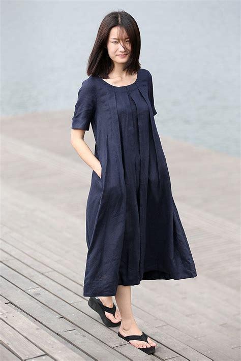 linen dress summer dress womens dress vintage dress loose