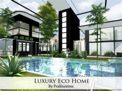 The Sims Resource Luxury Eco Home By Praline Sims • Sims