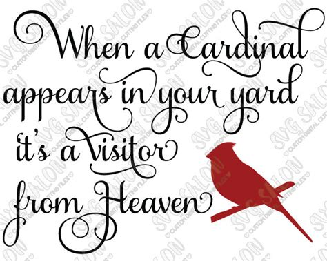 Download free svg vectors for commercial use. SVG When A Cardinal Appears In Your Yard Vinyl Decal by ...