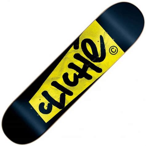 775 skateboard decks uk cliche skateboards cliche paper black yellow skateboard