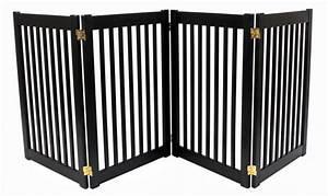 free standing 4 panel wood ez pet gate black 32h 72w With 4 panel dog gate