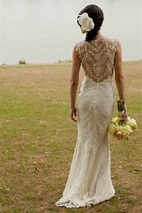 lace back wedding dresses part 1 belle the magazine With lace back wedding dress
