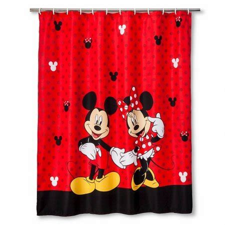 mickey mouse curtains disney mickey mouse minnie mouse fabric shower curtain