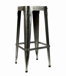Tabouret De Bar En Metal : tabouret de bar design industriel en m tal gris pomax ~ Teatrodelosmanantiales.com Idées de Décoration