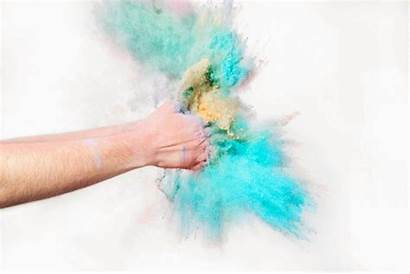 Powder Clapping Clap Via Colorful
