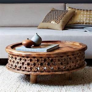 Carved wood coffee table west elm australia for Curved wood coffee table