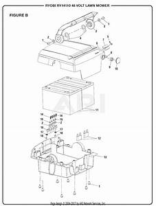 Homelite Ry14110 48 Volt Lawn Mower Parts Diagram For Figure B