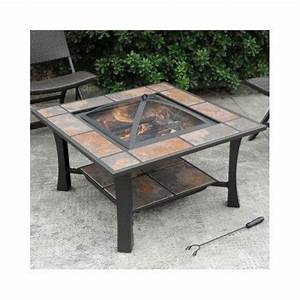 Unique outdoor garden fire pit coffee table wood burning for Unusual outdoor coffee tables
