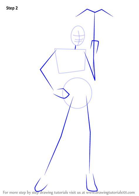 step  step   draw huntress drawingtutorialscom