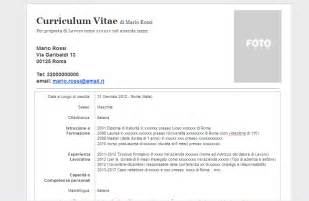 curriculum vitae da compilare online e da scaricare in pdf share the knownledge