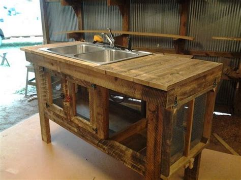 outdoor kitchen island with sink build your own unique outdoor sink with an old wooden