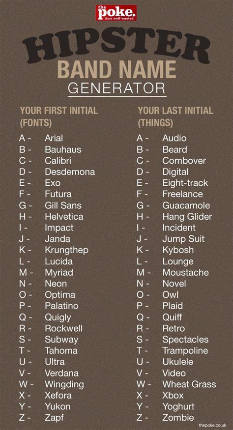 Name Generator Band Name Generator I M Lucida Kybosh Name