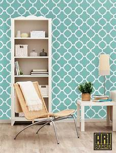 Quatrefoil self adhesive diy wallpaper home decor by artboardi