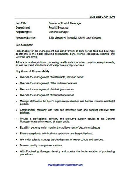 description cuisine food and beverage manager description food