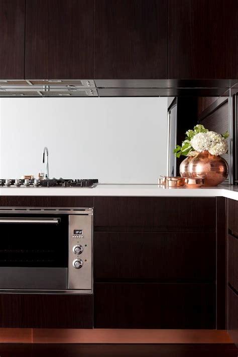 espresso kitchen cabinet mirrored cooktop backsplash design ideas 3592