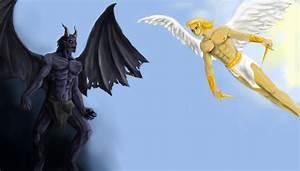 Angel Vs Demon Art | www.imgkid.com - The Image Kid Has It!