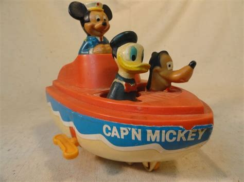 Mickey Mouse Boat by Vintage Cap N Mickey Mouse Friends Boat Early