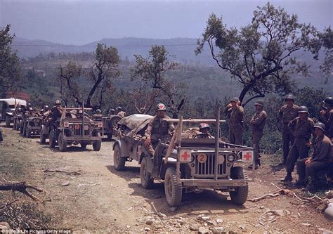 world war 2 in color photos of allied soldiers fight to conquer italy in