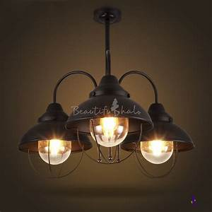 Buy tier industrial foyer chandelier rustic iron pipe