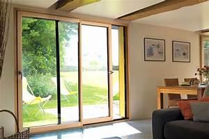 Baie Coulissante Bois : baie vitr e bois baie coulissante bois ~ Premium-room.com Idées de Décoration