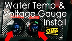 Wiring And Installing Water Temp  U0026 Voltage Gauge From