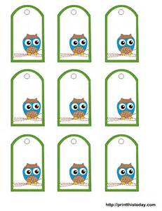 luggage tags favors free owl baby shower favor tags templates