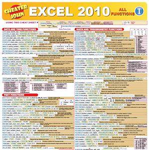 Excel 2010 Formula Cheat Sheets submited images