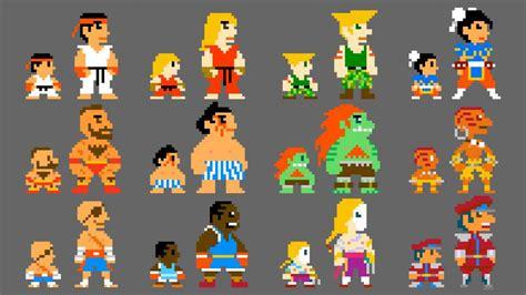 Street Fighter 5 Wallpaper 1080p 8 Bit Street Fighter Capcom Ryu Ken Guile Blanka Hd Wallpaper Games Wallpaper Better