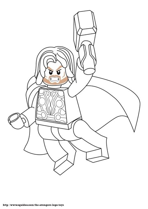 lego marvel coloring pages free lego marvel superheroes thor coloring page printable