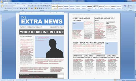 magazine templates word word excel samples