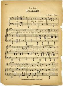 Free Vintage Images Lullaby Sheet Music Old Design Shop Blog