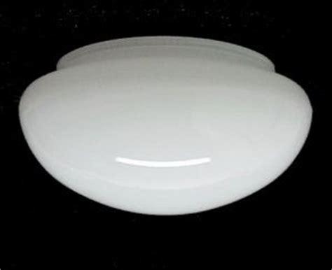 white glass flush mount ceiling pan light shade lighting
