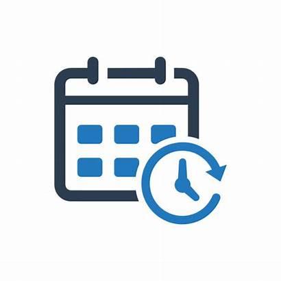 Calendar Clip Appointment Vector Icon Clock Schedule