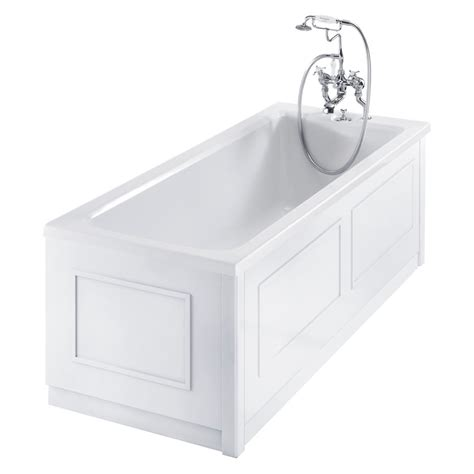 White Bath by Burlington Traditional White 2 Adjustable Bath Panels