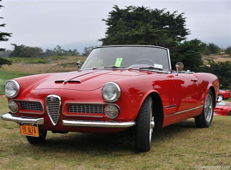 1959 Alfa Romeo by 1959 Alfa Romeo 2000 Spider At The Concorso Italiano