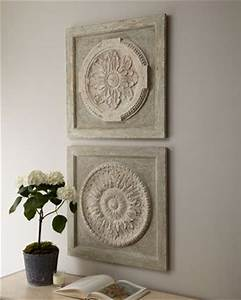 medallion wall plaques at horchow 425usd each diy with With medallion wall art