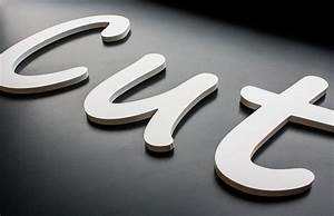 Foamex flat cut letters print 2 media ltd for Flat cut out letters