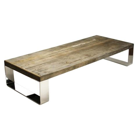 Wohnzimmertisch Holz Modern by Darren Contemporary Reclaimed Wood Steel Coffee Table